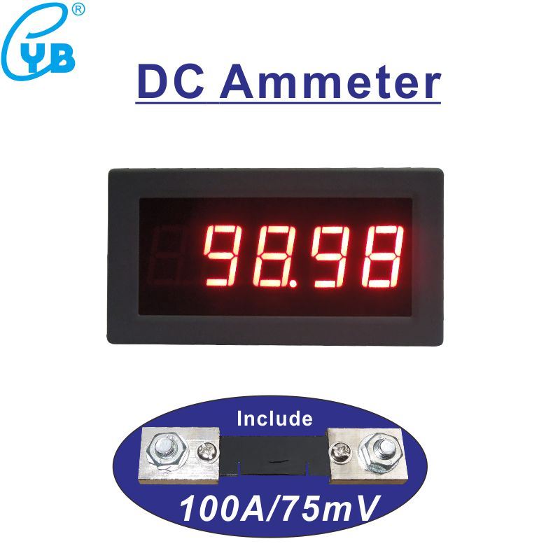 Tools Open-Minded Ac Current Meter Ac 50a Include A Shunt 50a 75mv Ac Amp Meter Led Digital With Red Blue Digits Ac Ampere Tester Current Monitor