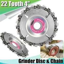 Новый 4 дюйма Grinder Chain диск 22 зуба резьба по дереву диск для 100/115 угловая шлифовальная машина