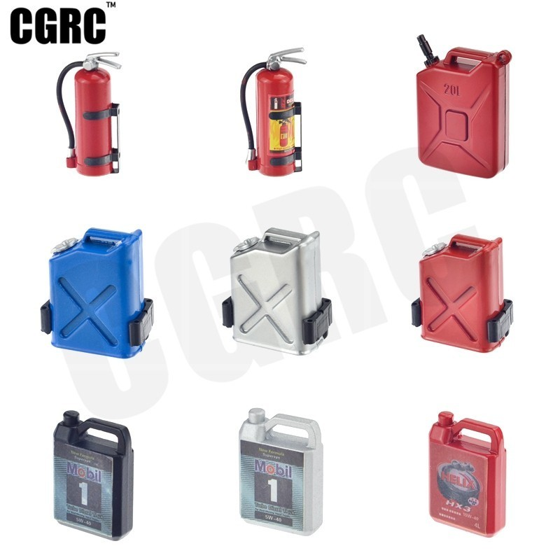 Tank Motor Oil Box Fire Extinguisher For 1/10 RC Crawler Car TRX4 RC4WD D90 Axial Scx10 Wraith CC01 Tamiya VS4 RC Decoration