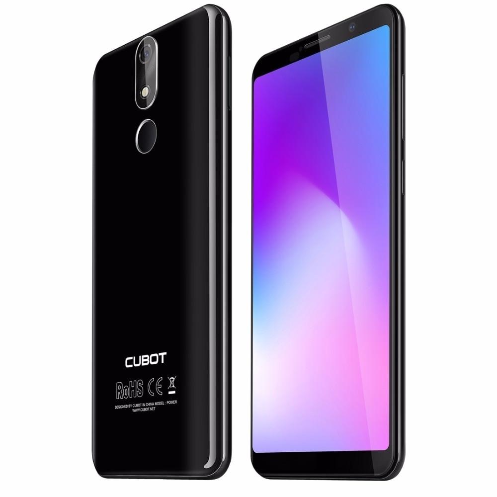 Cubot Power 4G Smartphone 6000 mAh Android 8.1 6 GB + 128 GB 5.99 téléphones portables MT6760 Octa Core identification d'empreintes digitales 16.0mp téléphone portable - 5