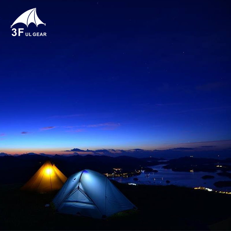 Image 5 - 3F UL GEAR 2 Person Camping Tent 4 Season 15D With Mat Outdoor  Ultralight Hiking Backpacking Waterproof Tents Waterproof CoatingTents