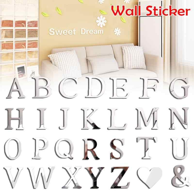 2019 New Diy Tường Dán 3d Sticker Acrylic Trang Trí Đám Cưới Món Quà Tình Yêu Chữ Trang Trí Bảng Chữ Cái Trang Trí Tường Gương Sticker