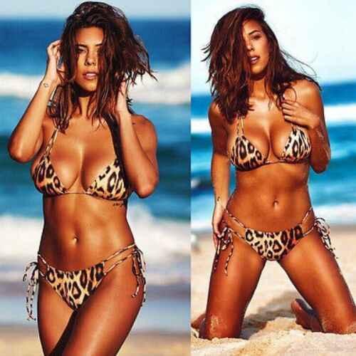 2019 Delle Donne Sexy di Un Pezzo della Fasciatura Stampa Del Leopardo Fasciatura Backless Bikini Costume Da Bagno Beachwear Monokini Plus Size