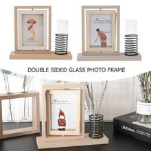 23x35 Inch Simple Double Sided Glass Photo Frame Modern Photo