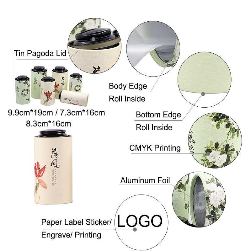Xin Jia Yi Kemasan Kertas Kotak Hadiah Teh Hitam Kompartemen Plexiglass Beberapa Kompartemen Plexiglass Kotak Kertas Emas Kertas