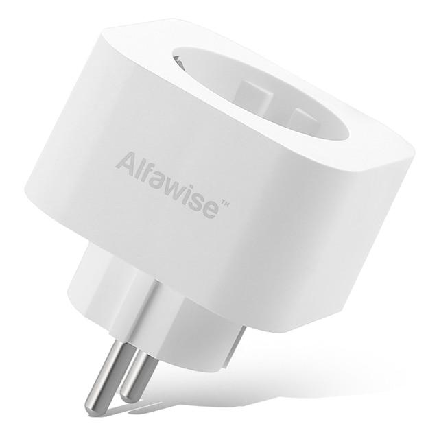 Alfawise PE1004T kompaktowa konstrukcja inteligentna wtyczka Mini WiFi gniazdo ue standardowe