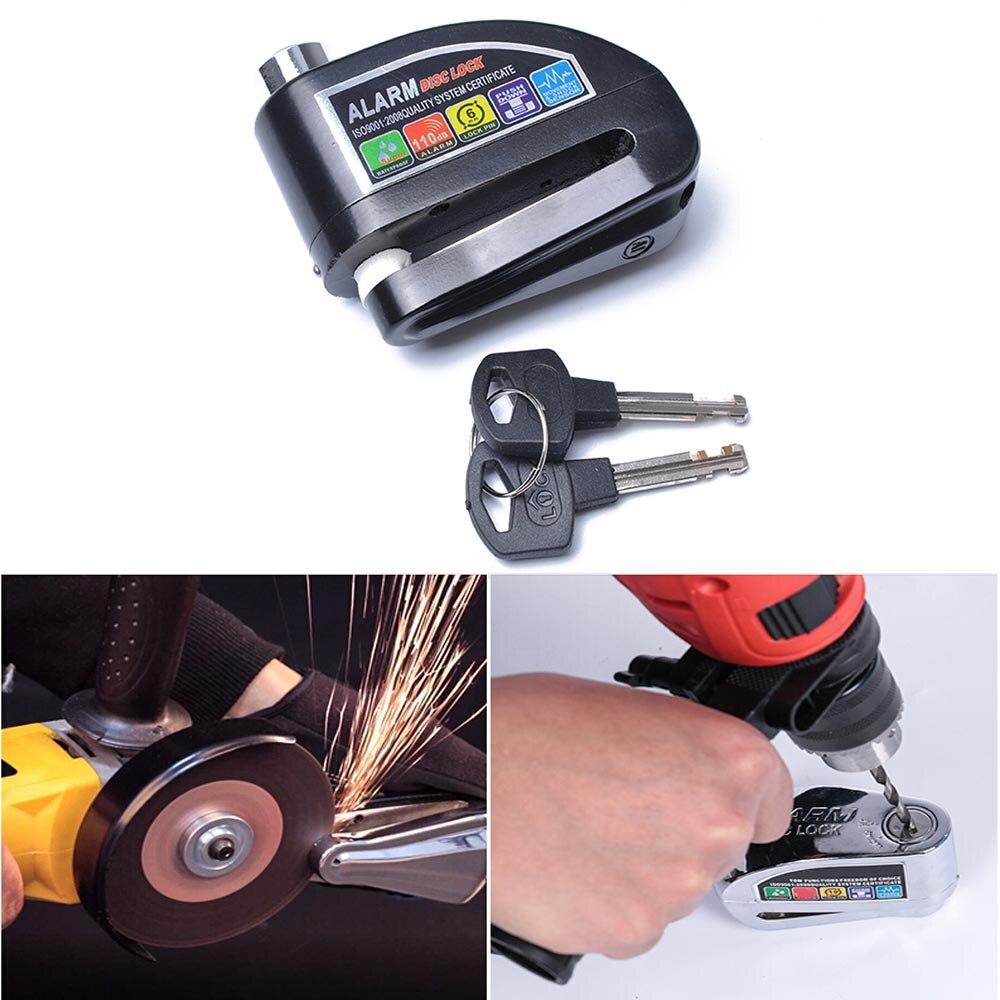 1 шт., мотоциклетный скутер, Противоугонный дисковый тормозной замок, охранная сигнализация, замок с 2 кнопками, защита от кражи мотоцикла, инструмент для блокировки диска|Защита от кражи|   | АлиЭкспресс