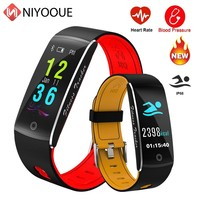 Fitness Tracker ความดันโลหิต F10 สร้อยข้อมือสมาร์ท IP68 ว่ายน้ำกันน้ำ GPS Pedometer กิจกรรม Tracker Heart Rate ผู้หญิงผู้ชาย
