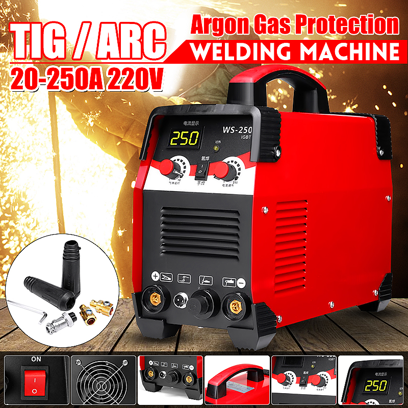220V 7700W 2IN1 IGBT STICK Inverter TIG/ARC Electric Welding Machine 20 250A MMA For Welding Working and Electric Working New