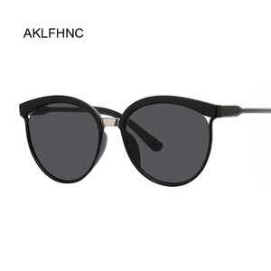 Sexy Black Cat Eye Sunglasses Women Shades Famous Brand Luxury New Designer Trendy Sun Glasses Female Small White Points UV400