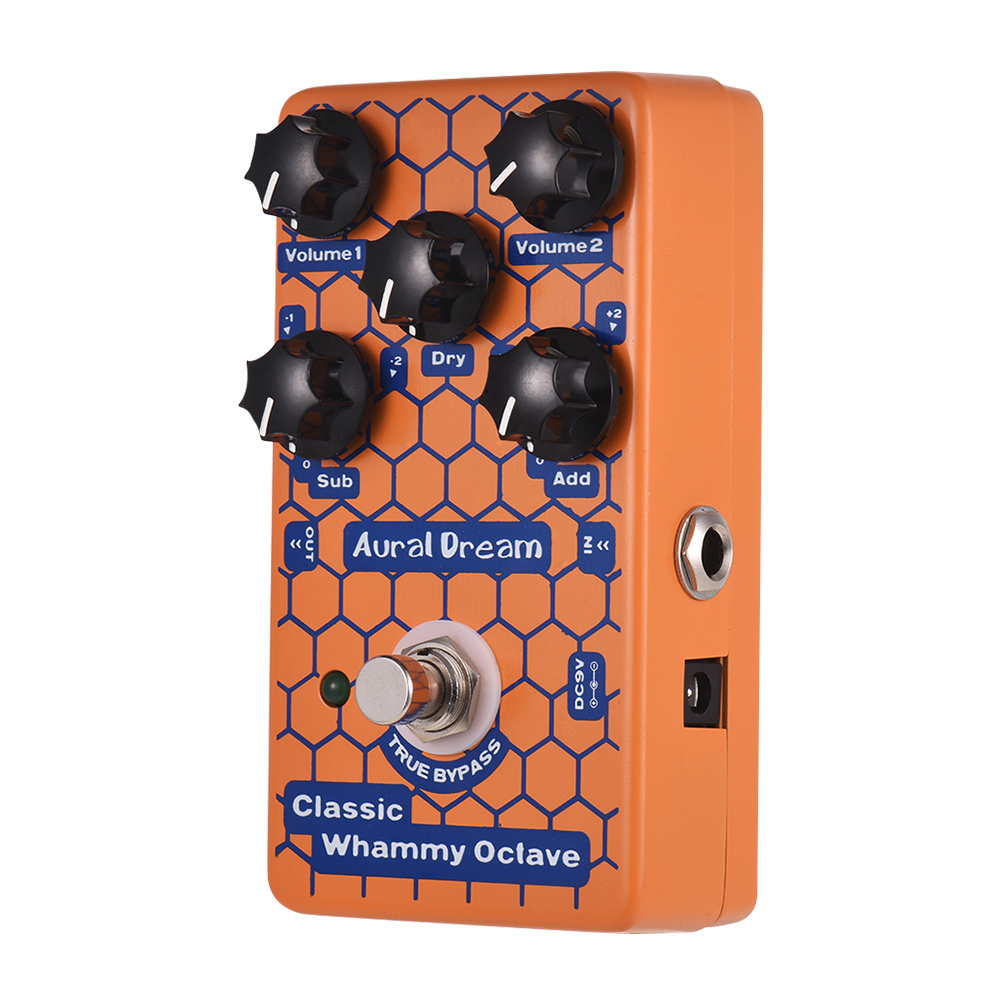Classic Octave Guitar Effect Pedal Electric Guitar Pedal Aluminum Alloy Shell True Bypass Guitar Parts Accessories