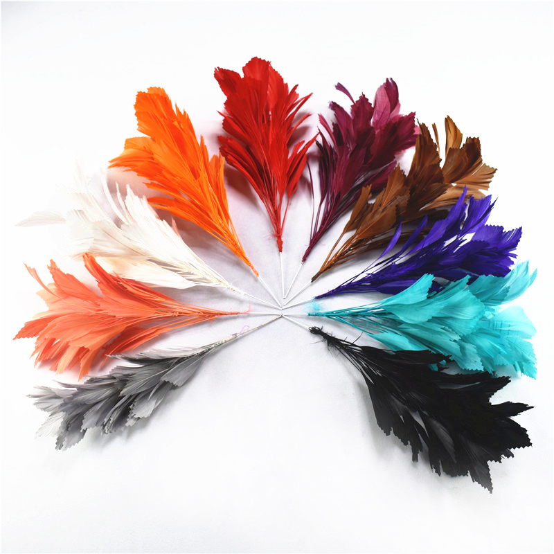 Wholesale Goose Feather Wedding Brooch Length About 30CM Feathers Flower Headdress Wedding Party Decoration Feathers For Crafts