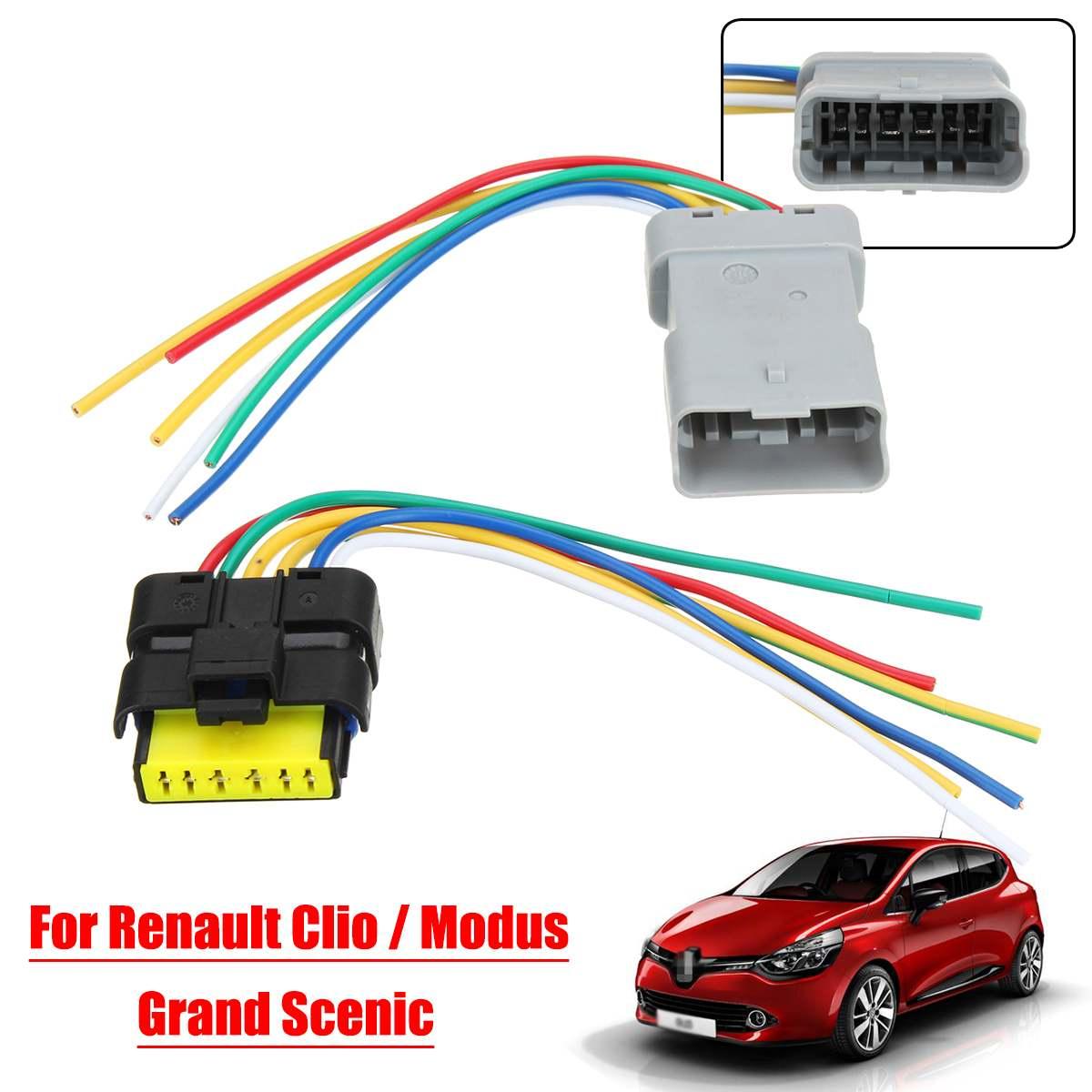 1set Window Module Wiring Ponytail Harness Plastic Plug For Renault Clio Grand Scenic Modus