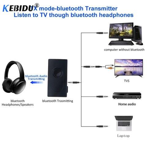 KEBIDU Bluetooth V4.2 Transmitter Receiver Wireless A2DP 3.5mm Adapter Stereo Audio Dongle For TV Car Speakers MP3 MP4 Headphone Karachi
