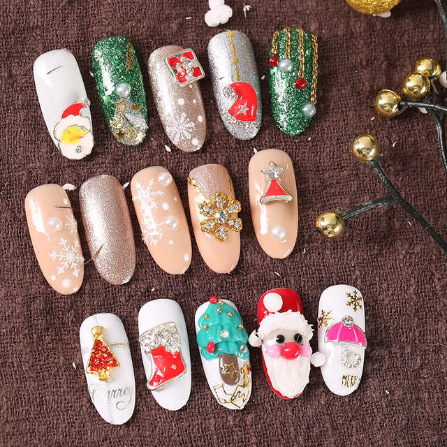 Online Shop Nail Christmas Jewelry Christmas Old Man Gift Snow