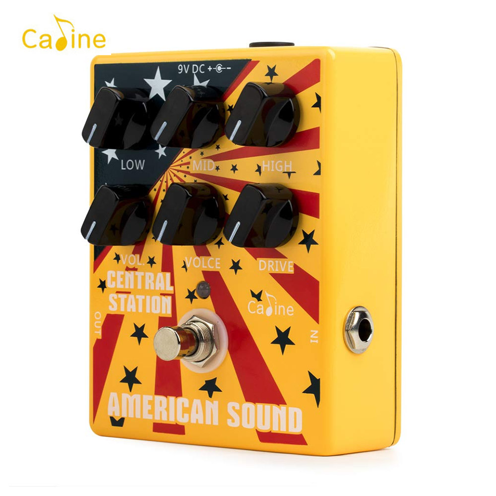 Caline CP 55 Guitar Overdrive Distortion Effect Pedal High Gain 3 Band EQ Guitar Pedal Aluminum