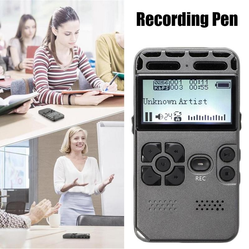 HD 8GB Professional Recording Pen Voice Recorder Dicta Phone LCD Digital Learning Audio Meeting Recorder Recording Equipment