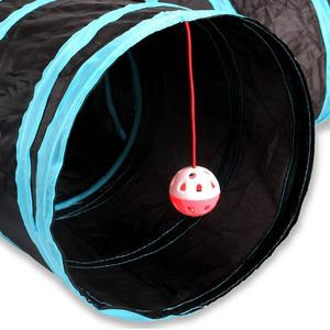 Image 4 - Practical Cat Tunnel 5 Way Foldable Pet Toy Tunnel  Rabbit Cat and Dog Game Pipe Black blue