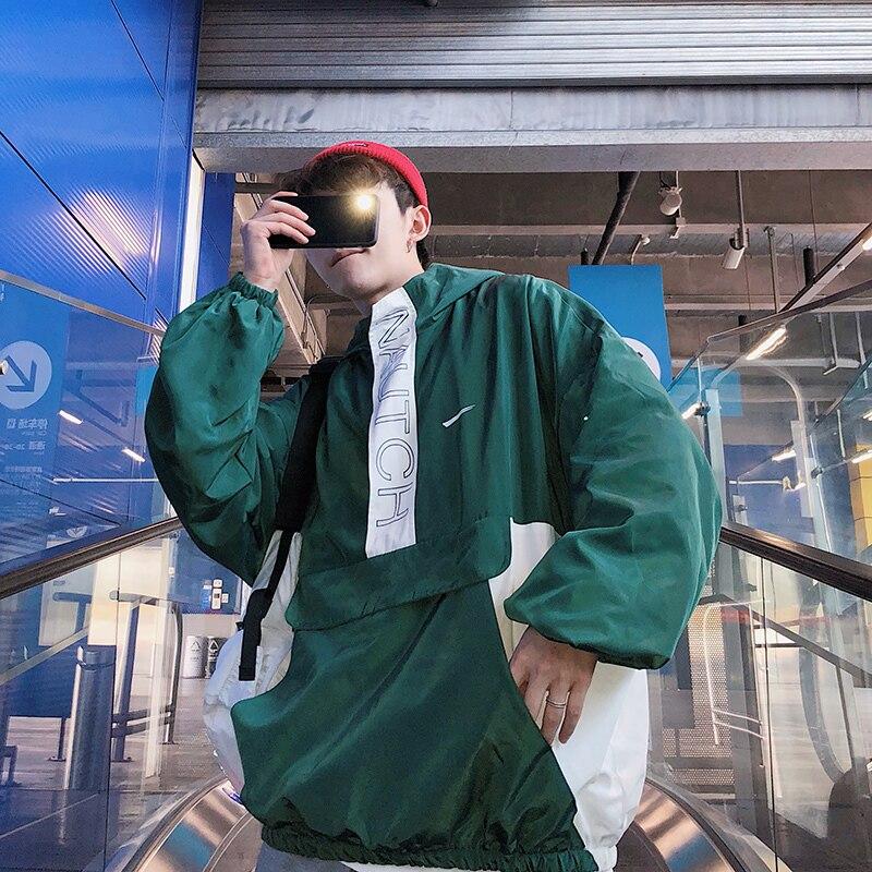 Salvaje Hombres Sólido Chaqueta Hip Streetwear Los Primavera navy Loose Casual De Color Green Moda Nueva Jersey Hop Blue Hombre Tendencia cyan Bomber qIw006n5O