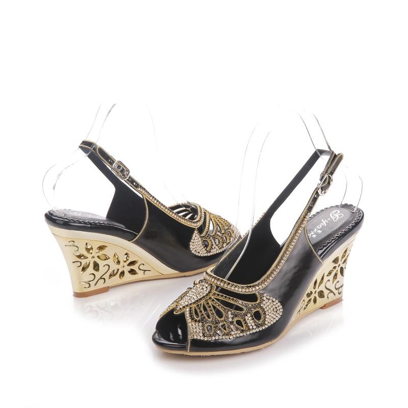 Heels Heel Dressing Wedge black Sandales Hauts Toe l027 purple Strass Papillon Chaussures Style Black Heels Talons Gs Violet Bal Stiletto Peep gold Danse À Cendrillon Heels De qFfpwXt1