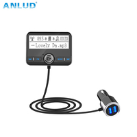 ANLUD Bluetooth Автомобильный fm-трансмиттер Беспроводной автомобиля AUX модулятор Автомобильный Mp3 плеер громкой связи Dual USB А