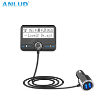 ANLUD Bluetooth Car Kit FM Transmitter Wireless Car AUX Modulator Car Mp3 Player Handsfree Dual USB Car Charger LCD Display fm transmitters bluetooth car kit fm transmitter handsfree aux mp3 player modulator with led display portable dual usb charger