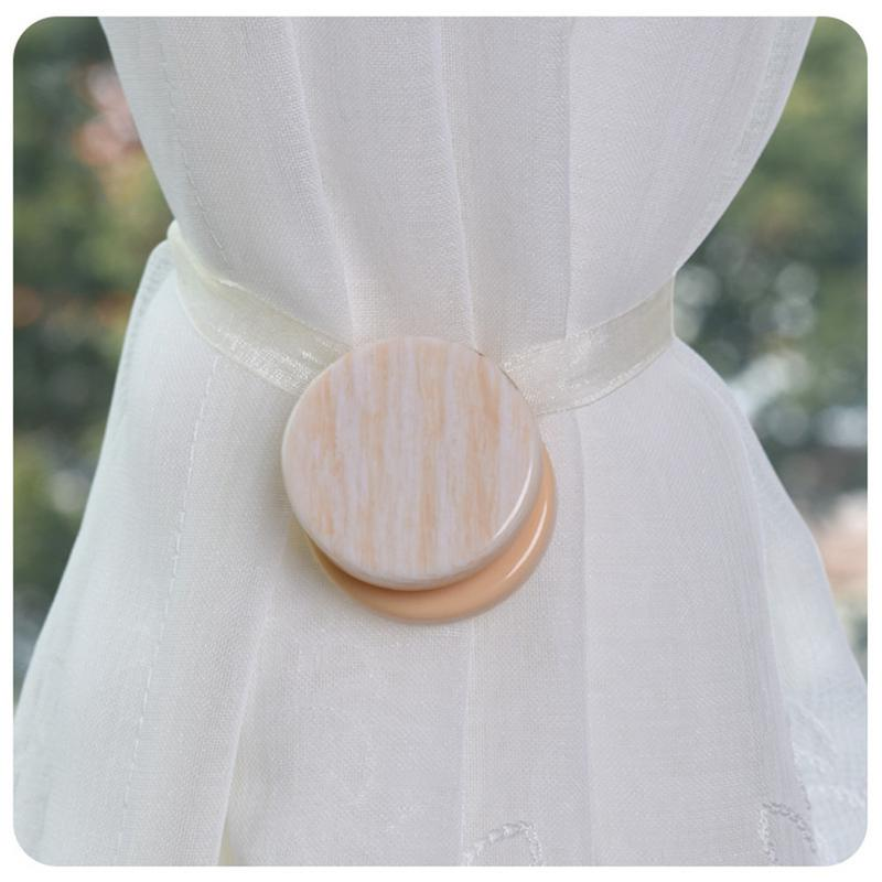 2PCS Magnetic Curtain Buckle Free Installation Curtain Straps Ribbon Curtain Hooks Wallpaper Buckle Tieback For Home Accessories