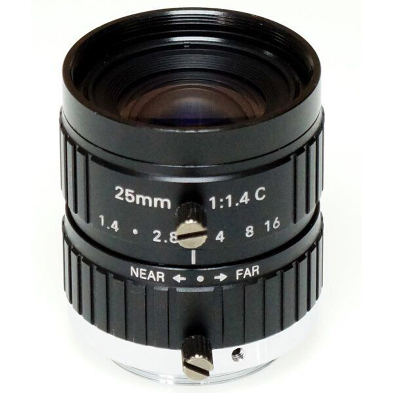 10 MP HD Lens 1/1.8-inch And 1-inch Sensor F1.4 Manual Iris  25mm For Surveillance And Machine Vision C Mount