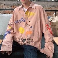 The New listing Men's Printing Long Sleeve Male Hawaiian Shirt French Cuff Mens floral Brand Clothing Fashion Shirts Big Size
