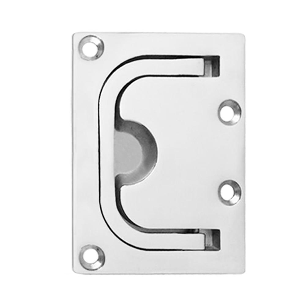 1PCS 316 Stainless Steel Flush Hatch Locker Cabinet Lift Pull Handles for Boat
