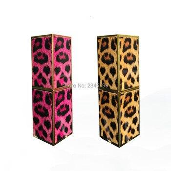 Empty Lipstick Tube 12.1mm Magnetic Buckle Lip Balm Tube Empty Gold Leopard Print Lipstick Container Pink Lip Balm Tube 30pcs