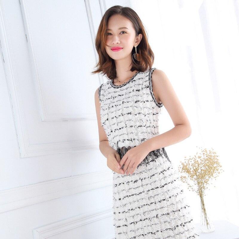 Gland l Tricoté Qualité De S Top Nouveau Suit 2019 Blanc Deux Français Supérieure Gilet Femmes Mode Tissé Ensembles White piece Jupe Noir YAzxqwR