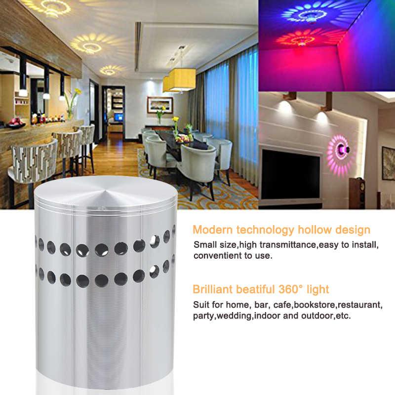 Rgb 3 w conduziu a luz de teto alumínio moderno wall mounted arandela barra exposição arte deco luzes iluminação cabeceira casa