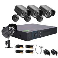 VODOOL Computer Peripherals Camera Webcams 8CH CCTV System 720p DVR Kit 4pcs Security Camera Video Surveillance System