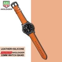 Für Samsung Getriebe S3 Uhrenarmbänder Für Huami Amazfit 1 2 Handgelenk Band Echte Leder Mit Silikon Uhr Braclet Für Huawei uhr 2pro