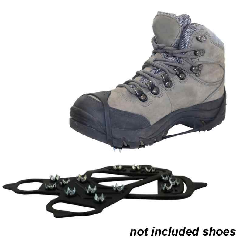 1 пара для ходьбы, Нескользящие, ледяные, снежные, для трассы, кемпинга, для обуви, с точечным захватом, для подъема, ледяные скобы, тянущаяся, плотная резинка