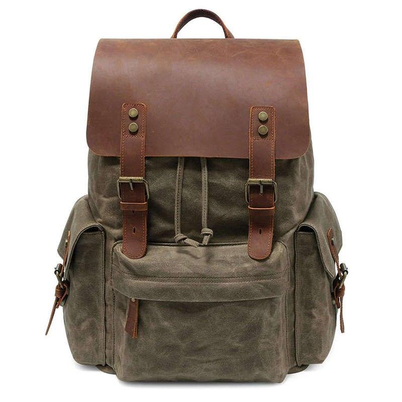 Large Canvas Backpack School Bag Outdoor Travel Rucksack,Vintage Satchel Shoulder BagLarge Canvas Backpack School Bag Outdoor Travel Rucksack,Vintage Satchel Shoulder Bag