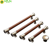 Luxury Zinc Alloy Door Handles For Kitchen Cabinet/ Wardrobe/ Bedroom Knob Furniture brown Handle Z-2121(China)