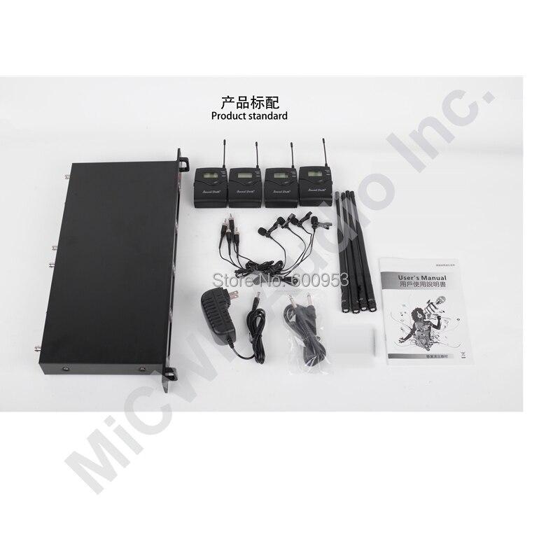 MiCWL 4 Tie Clip Lapel Lavalier Wireless Karaoke DJ Microphone System SKM9000 400 Channel Champagne Gold Black Limited Edition