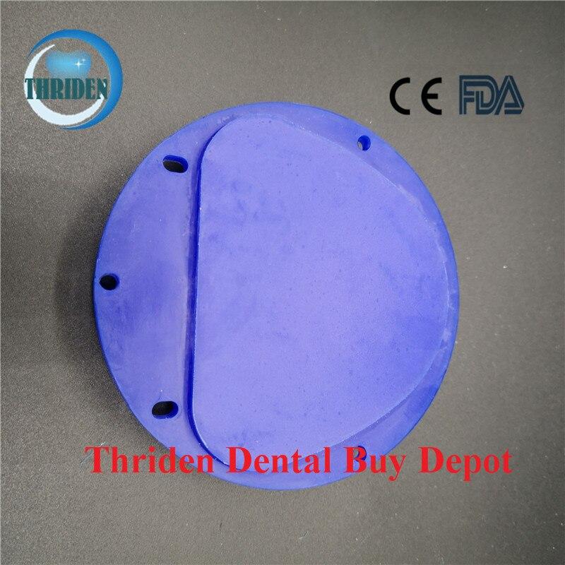 5 pièces/lot laboratoire dentaire CAD CAM cire disque Amann Girrbach système 89*71*12/14/16/18/20/25mm bleu sculpture bloc de cire matériaux dentaires