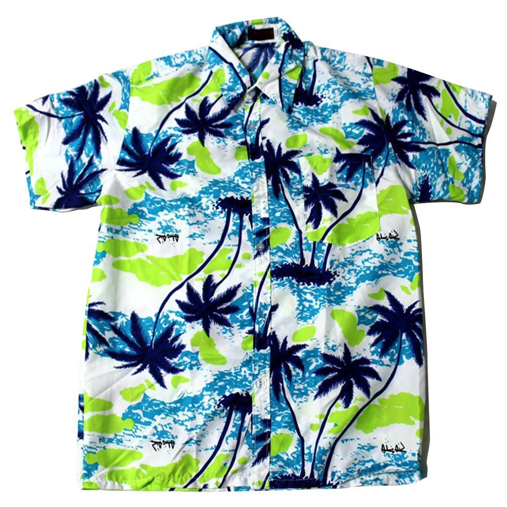 MISSKY Women Men Unisex Summer Shirt Fashion Beach Shirt Hawaiian Pattern Casual Shirt Male Lovers Clothes