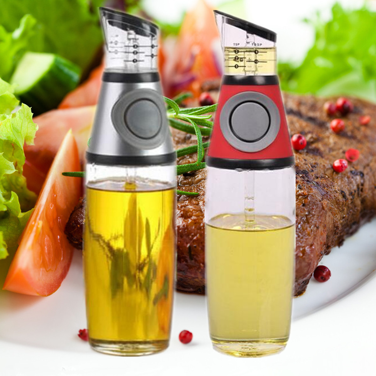 500ml Kitchen No-Drip Spout Glass Gravy Boat Olive Oil Vinegar Dispenser Pourer Bottle Cooking Tools Tableware Leakproof