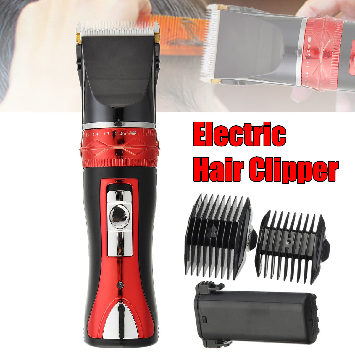 Tondeuse électrique homme cheveux Silence barbe tondeuse corps rasoir coupe de cheveux Machine