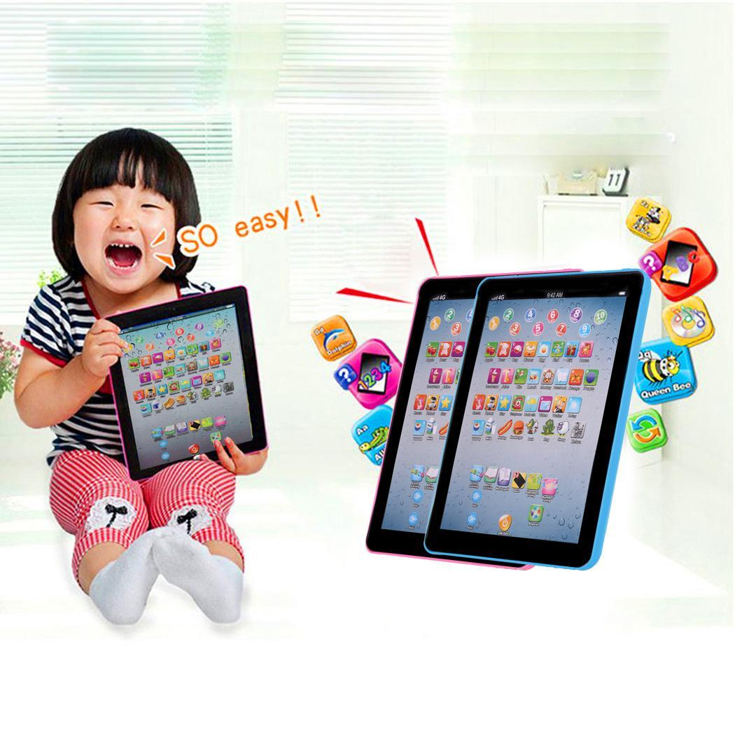Children Touch Screen Tablet Pad English Learning Early Education Machine 3 x 1 5V AA batteries not included As picture