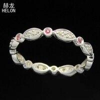 100% Genuine Natural Diamonds & Pink Sapphire Engagement Wedding Ring 925 Sterling Silver Gemstone Women Fine Jewelry Ring