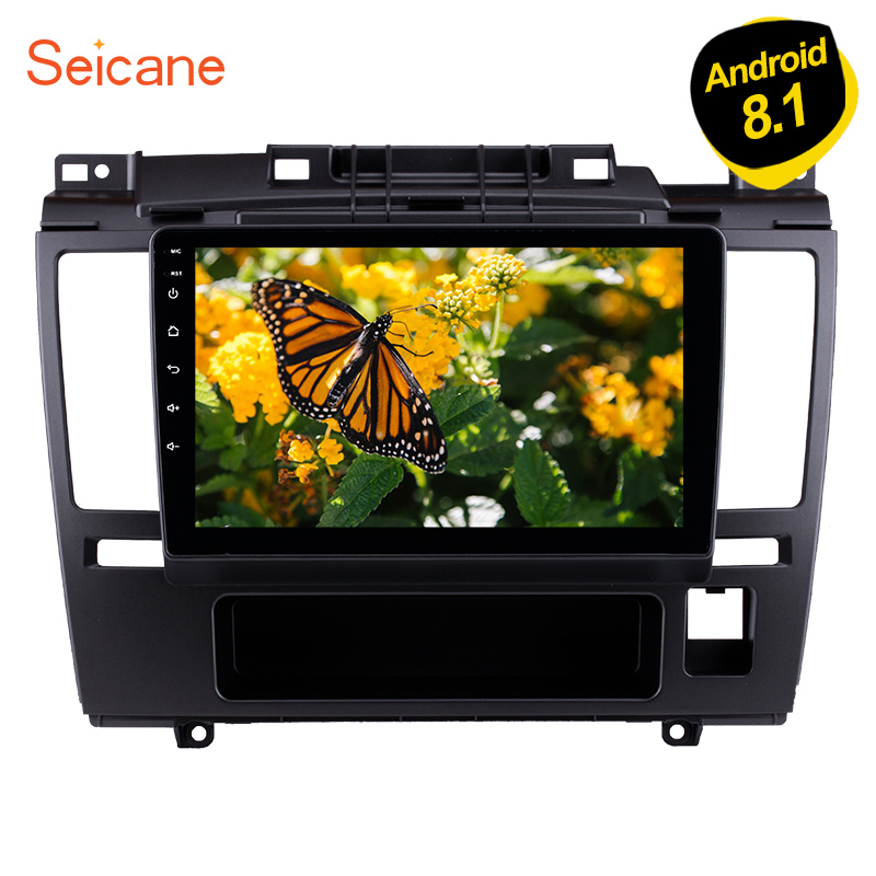 Seicane Android 8.1 9 Inch HD Touchscreen Car Radio For 2005 2006 2007 2010 Nissan Tiida GPS Navigation with Bluetooth Music DVR