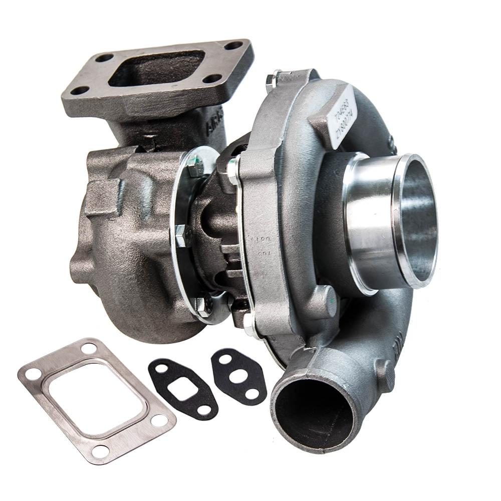 T3 T4 T04E. 63 A/R Universel Turbo Turbocompresseur pour 1.6L-2.5L 3.2L-5.0L 400HP Civique CRX 88-91 D16 D16 Y7 D16Y Chargeur