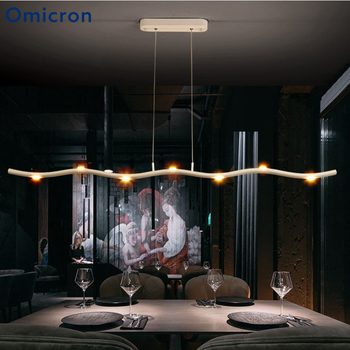 Omicron Modern Led White Creative Twig Pendant Lights Suspension Hanging Ceiling Lamp For Dinning Room Study Room Lighting