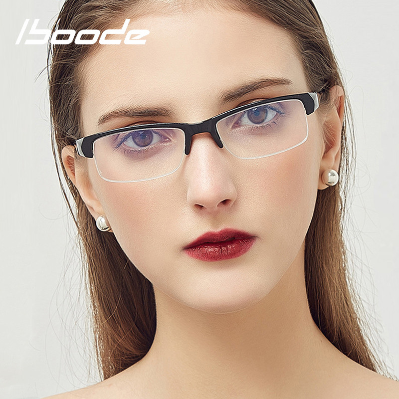 Iboode Myopic Glasses Lens Black Frame Glasses Myopia -1.00 -1.50 -2.00 -2.50 -3.00 -3.50 -4.00 Diopter Myopic Reading Glasses