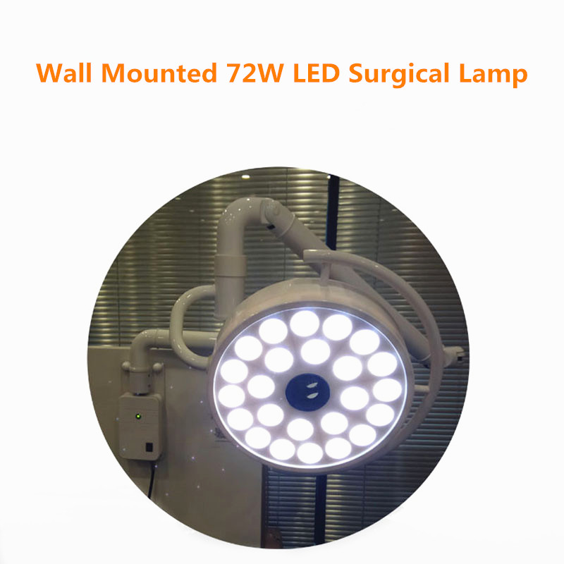 Купить с кэшбэком Wall Mounted 72W LED Surgical Lamp Examination Light Shadowless Lamp Surgery Dental Department Pet Clinic Lamp Operation Light